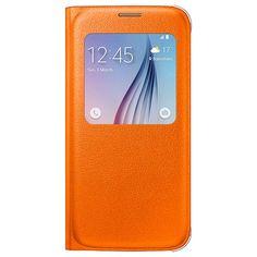 Samsung Galaxy S6 S-View Flip Veske EF-CG920PO - Oransje