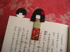 Magnetic Japanese Paper Doll Bookmarks (Nakamura) by UmeOrigami | Craft Juice