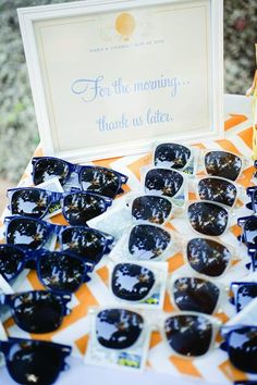 Sunglasses and headache meds served as post-party relief at this Dominican Republic wedding. Photo Credit: Captured Photography by Jenny