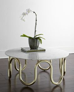 Shop Scalinatella Coffee Table from Jonathan Adler at Horchow, where you'll find new lower shipping on hundreds of home furnishings and gifts. Decor, Jonathan Adler, Marble Coffee Table, Table, Modern Table, White Accent Table, Coffee Table, Metal Furniture, Coffee Table Prices