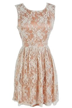 Lily Boutique: Antique Pink and Cream Lace Dress
