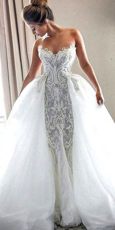 Wonderful Perfect Wedding Dress For The Bride Ideas. Ineffable Perfect Wedding Dress For The Bride Ideas. Lace Mermaid Wedding Dress, Dream Wedding Dresses, Bridal Dresses, Wedding Gowns, Tulle Wedding, 2017 Wedding, Wedding Cake, Bridal Lace, Dress Lace