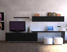 mdf laqueado rack lcd tv led modular le charp s. Tv Wall Design, Tv Unit Design, Apartment Desk, Lcd Panel Design, Study Table Designs, Tv Unit Furniture, Rack Tv, Tv Wand, Desk In Living Room