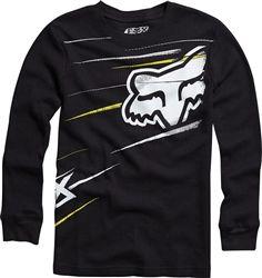 2013 Fox Step Up Youth Thermal Shirt Long Sleeve Motocross Youth Apparel Shirt