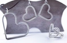 #hearts#silver#handmadejewelry#picart Jewlery, Handmade Jewelry, Hearts, Instagram Posts, Silver, Stuff To Buy, Handmade Jewellery, Jewerly, Schmuck
