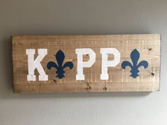 FREE SHIPPING Kappa Kappa Gamma wood handmade  by TheOwlsHootShop