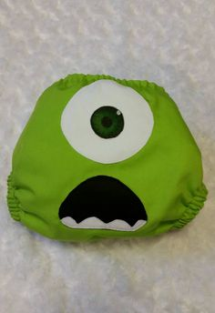 Monsters inc mike wazowski cloth diaper cover or pocket diaper one
