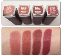 Bellynim: Maybelline Creamy Matte Lipstick Shades Swatch. (I luv 656 Clay Crush.)