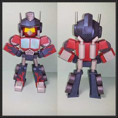 Angry Birds Transformers - SD Red Bird Optimus Prime Free Papercraft Download - http://www.papercraftsquare.com/angry-birds-transformers-sd-red-bird-optimus-prime-free-papercraft-download.html