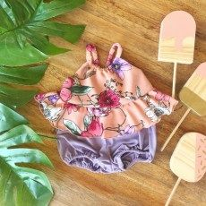Coral Floral Top and Bloomer Floral Tops, Coral, Christmas Ornaments, Holiday Decor, Home Decor, Decoration Home, Top Flowers, Room Decor, Christmas Jewelry