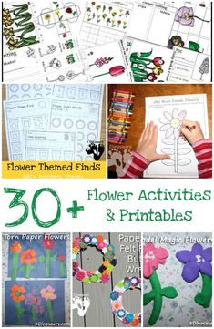 30+ Flower Printables and Activities from 3 Dinosaurs - a mix of printables, crafts, painting, sensory bins and more - 3Dinosaurs.co
