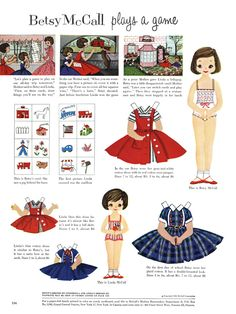 Betsy McCall Paper Dolls - 1956 Aug.  My mother always game me Betsy when her magazine arrived. : )