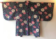 Vintage Japanese Kimono Haori Jacket Silk purple floral