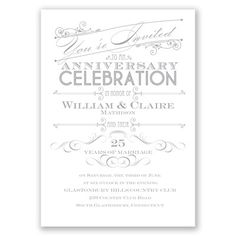 let's celebrate wedding anniversary invitation I choose your color!