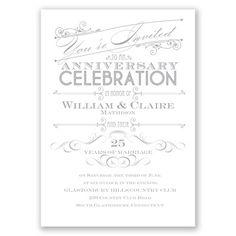let's celebrate wedding anniversary invitation I choose your color!