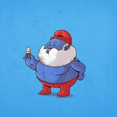 The Famous Chunkies Alex Solis Papa Smurf Fat Cartoon Characters, Cartoon Icons, Cartoon Art, Famous Cartoons, Funny Cartoons, Cultura Pop, Funny Drawings, Cool Drawings, Geeks