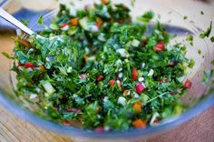 A simple, garlic, parsley & chili sauce that goes with almost any kinds of BBQ meat. Or use it for grilled veg, roasted potatoes, anything you fancy. Bbq Meat, 30 Minute Meals, Roasted Potatoes, Seaweed Salad, Parsley, Guacamole, Barbecue, Chili, Garlic