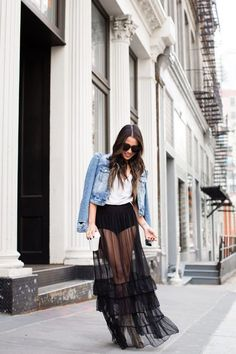 Inside Out :: High-waisted comfort & Sheer tulle skirt