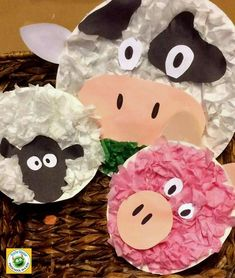 Farm Kid Crafts - Fun Farm Themed Activities - A Crafty Life These farm kid crafts are prefect for a farm theme week or any time you want to make cute farm animals. There are pigs, chicks, sheep, and more. Farm Theme Crafts, Preschool Farm Crafts, Farm Animals Preschool, Farm Animal Crafts, Pig Crafts, Farm Activities, Animal Crafts For Kids, Birthday Activities, Farm Kids