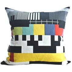 TV Pattern cushion cover by Design Kist Quirky Decor, African Design, Scatter Cushions, Pillow Talk, Soft Furnishings, Tv, Fabric Design, Decorative Pillows, Retro