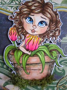 Lacy Sunshine Tina Tulips colored by Sunshine Girl Donna Mundinger
