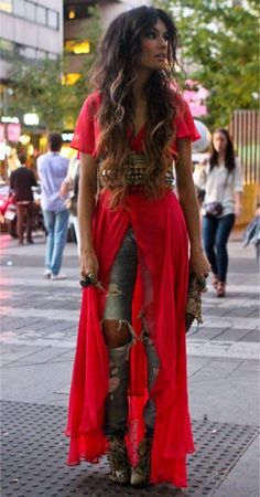 Stunning Boho Chic Outfits Ideas For 2019 10 Trend Fashion, Look Fashion, Womens Fashion, Fashion Ideas, Ladies Fashion, Fashion Quotes, Korean Fashion, Winter Fashion, Fashion Tips