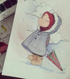 Ş.k Deviantart Drawings, Watercolor Paintings For Beginners, Islamic Cartoon, Anime Muslim, Hijab Cartoon, Anime Art Girl, Pictures To Draw, Wattpad, Arabesque