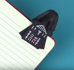 Darth Vader Origami Bookmark | Make an origami Darth Vader who will protect your book from the light side.