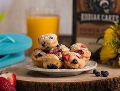 Summer Berry Pancake Muffins ~ Kodiak Cakes