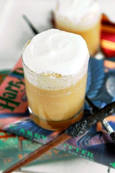 4 Delicious Harry Potter Recipes You Can Try at Home. Butterbeer: 1 can of Cream Soda 1 teaspoon of Rum Extract 1 teaspoon of Butterscotch Extract 1 tablespoon of Brown Sugar 1 cup of Vanilla Ice Cream