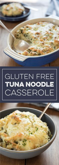 Learn how to make delicious Gluten Free Tuna Noodle Casserole straight from the experts at Jovial Foods. Fish Casserole, Tuna Casserole Recipes, Tuna Recipes, Gf Recipes, Healthy Recipes, Noodle Recipes, Seafood Lasagna, Seafood Pasta, Seafood Dishes