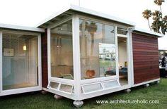 Vivienda moderna de estilo Contemporáneo, compacta de techo plano