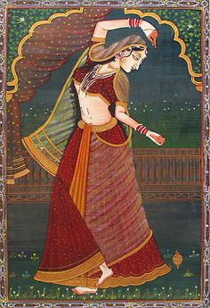 """When you dance to your own rhythm, life taps its toes to your beat. Mughal Paintings, Dance Paintings, Indian Art Paintings, Madhubani Painting, Rajasthani Painting, Krishna Art, Krishna Lila, Painting Of Girl, Silk Painting"