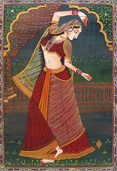 Rajput Princess in a Playful Mood