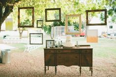 dessert tables with frames
