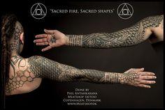 Sacred fire, Sacred geometry tattoo by Meatshop-Tattoo