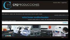 Proyecto: Desarrollo de Website institucional Empresa: CFG Producciones Rubro: Soluciones Audiovisuales Descripción de la empresa: Ofrece servicios de alquiler y venta de equipos audiovisuales. Website: http://www.cfg-producciones.com.ar/
