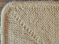 Attached I-Cord Knitting Charts, Knitting Stitches, I Cord, Diy And Crafts, Blanket, Crochet, Tricot, Knitting Patterns, Ganchillo