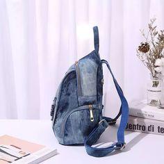 7f937e7a06a0 50% СКИДКА|IPinee для женщин Повседневное рюкзаки джинсовая сумка бабочка  вышивка Средний Femme школьная Sac dos Mochila Plecak szkolny купить на  AliExpress