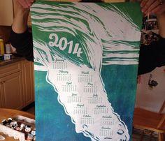 2014 tea towel calendar | Aldea Wood