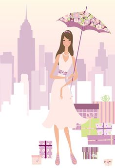 Fashion Illustration  NY   Bridal Shower  for zyliedesigns  Adobe Illustrator  by Sahar Ajami