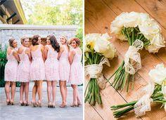 подружки невесты в одинаковых платьях #wedding #bridesmaid #lace