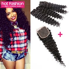 Cheap Human Hair Weft with Closure, Buy Directly from China Suppliers: 2016 Virgin Brazilian Deep Curly Hair With Closure 4 Bundles Deal With Closure Deep Wave Hot Mink Brazilian Hair With C