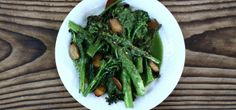 Broccolini with Garlic Chips and Coconut Pesto.   Yum!  And #cambiaticlean