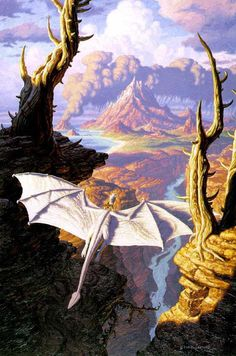 The Mountain ... Copyright Tim Hildebrandt (from http://www.facebook.com/FairiesDragonsAndOtherMythologicalCreatures )