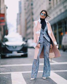 11c3252f4f48d New York Moda Haftası Sonbahar-Kış Sokak Kombinleri 2018 Kız Çocuğu Modası,  Pastel,