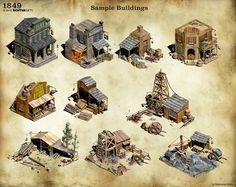 1849 - Sample Buildings by Mr--Einikis on DeviantArt Minecraft Medieval Buildings, Medieval Houses, Environment Concept Art, Environment Design, Fantasy House, Fantasy Art, Game Art, Forte Apache, Fallout 4 Settlement Ideas