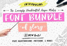 You can never have enough fonts for your design. Angie Makes Font Bundle of Glory by Angie Makes on @creativemarket