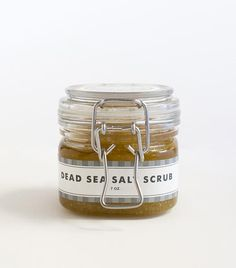 Refresh your skin with the amazing minerals from the Dead Sea with our Dead Sea Salt Scrub.  Using pure, all-natural Olive Oil and Lavender Essential Oil, we have put together an incredibly wonderful skin-nourishing scrub to add one more weapon in your home-spa arsenal.  Why spend hundreds of dollars at a spa when you can pamper yourself whenever you want to for a whole lot less!!