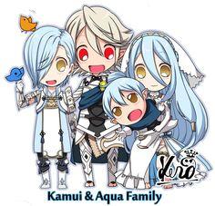 Fire Emblem Fates - Corrin x Azura family <3